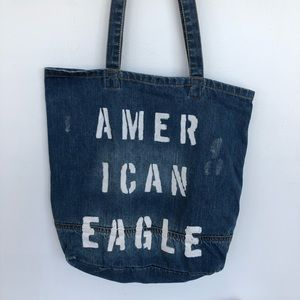 American Eagle salvaged denim tote